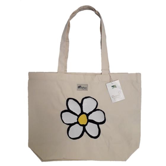 Saco de compras em algodão biológico (35 x 32 x 12 cm/16l)