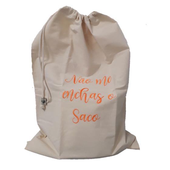 Saco de algodão cru p/pão XL (74 x 50)