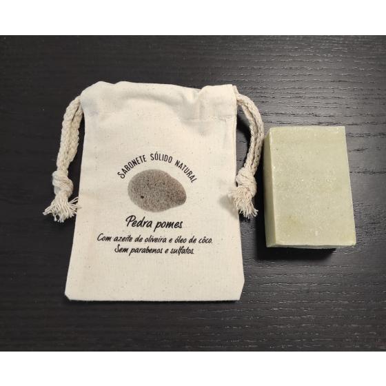 Sabonete natural exfoliante pedra pomes