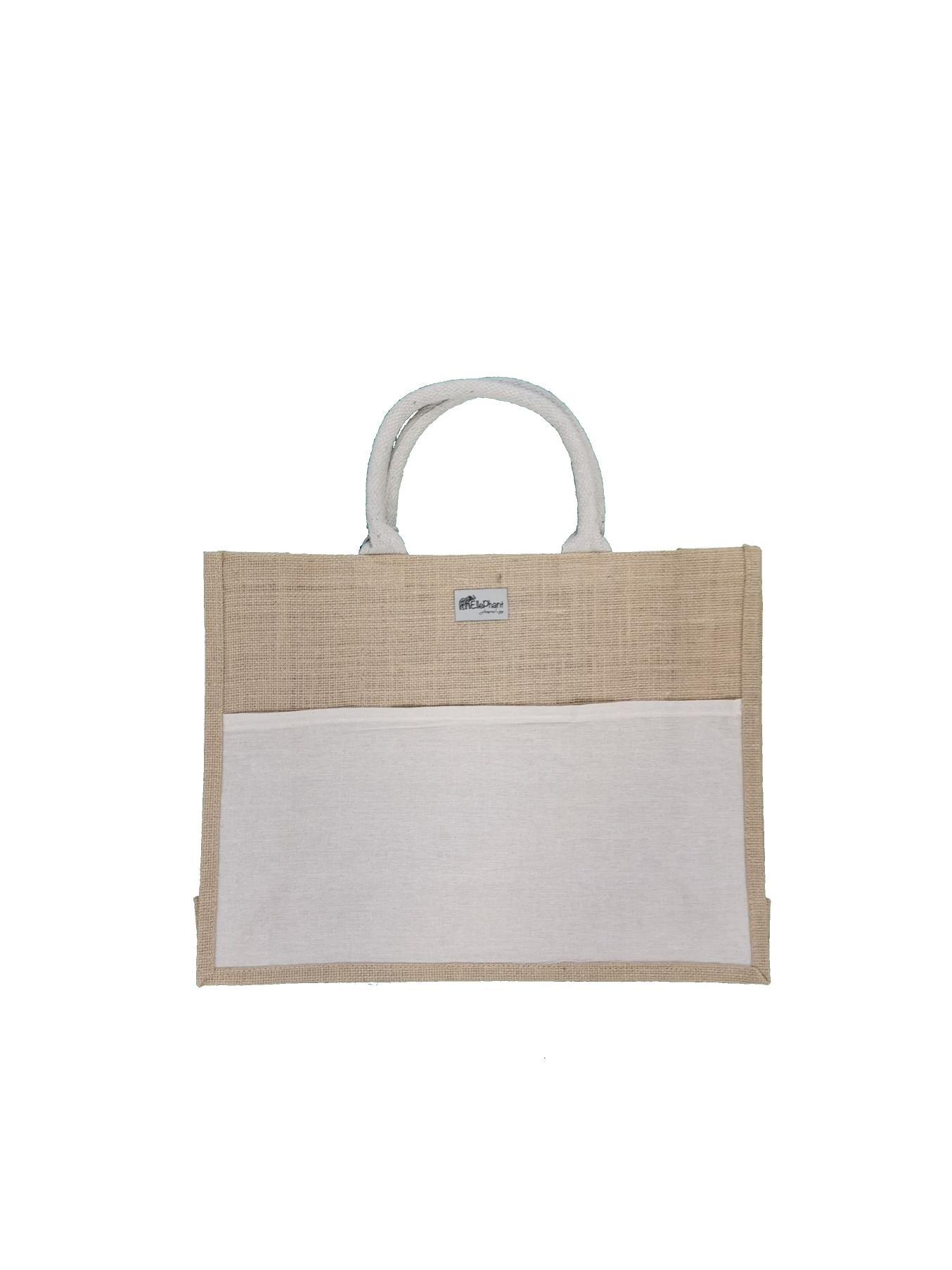 Saco de juta c/goma c/bolsa (35 x 44 cm)