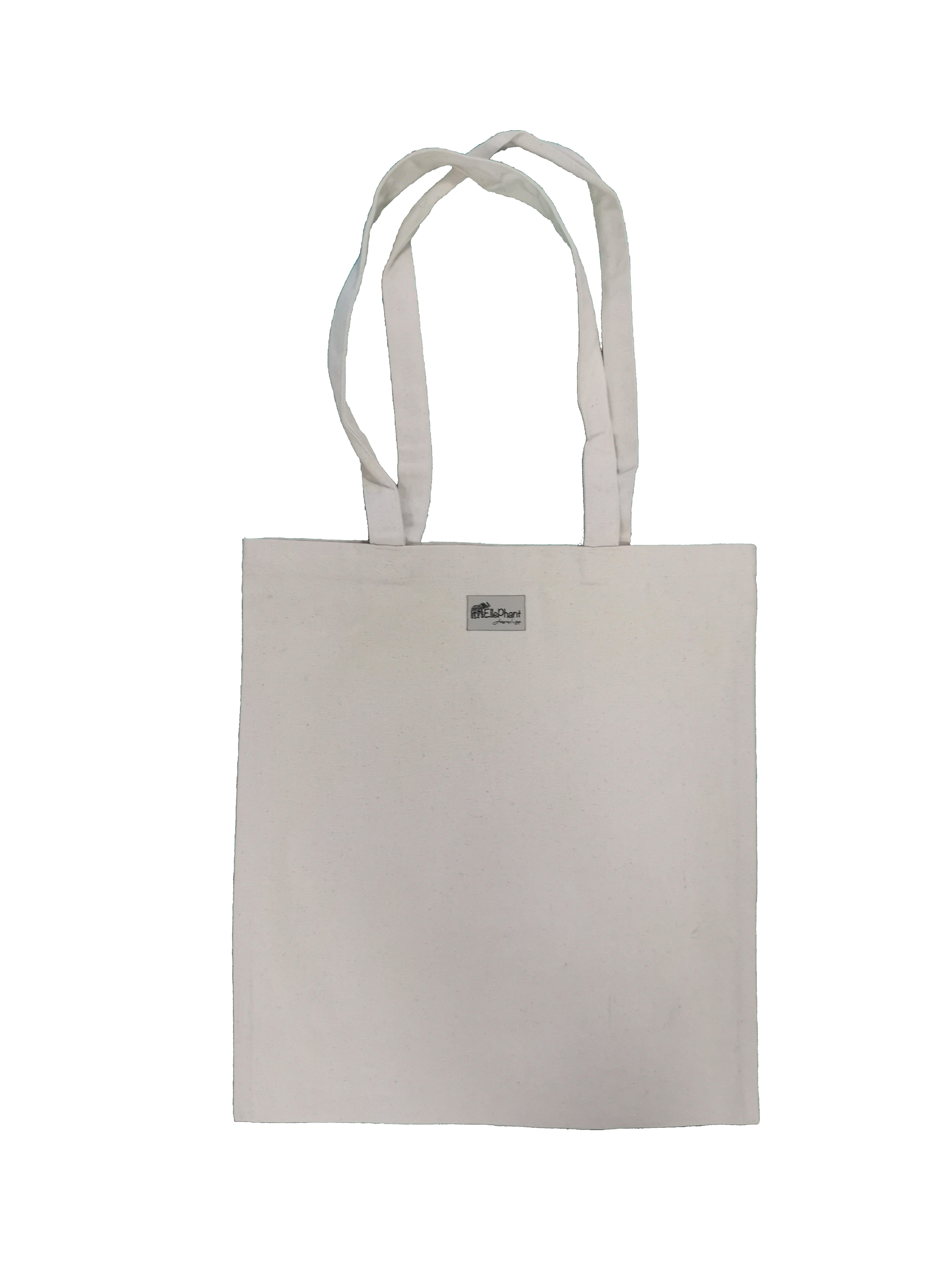 Saco de compras em algodão biológico Totebag (38 x 42 cm/13l)