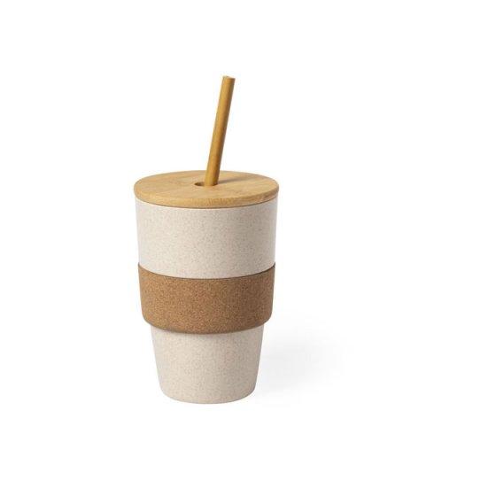 Copo em bambu e cortiça natural