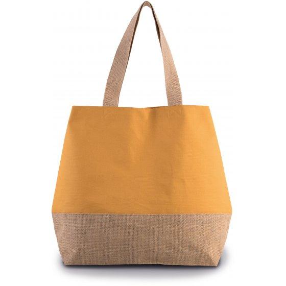 Saco de compras em malha algodão + juta (53 x 15 x 40 cm)