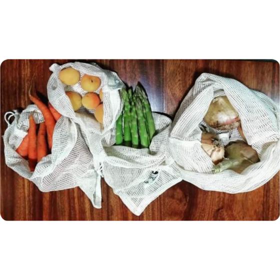 Sacos p/fruta set de 4